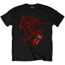 T-Shirt Unisex Tg. XL. Rolling Stones Script Logo Soft-Hand Inks