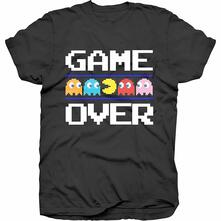 T-Shirt Unisex Tg. L Pac-Man. Game Over