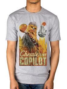 T-Shirt Unisex Tg. S Star Wars. Solo Chewie Co-Pilot