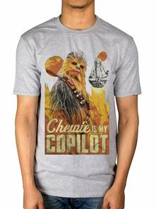 T-Shirt Unisex Tg. L Star Wars. Solo Chewie Co-Pilot
