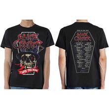 T-Shirt Unisex Tg. 2XL Alice Cooper. Love The Dead Ex Tour/Back