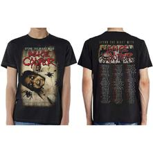 Ex Tour/Back Print T-Shirt Unisex Tg. L Alice Cooper. Spend The Night With Spiders