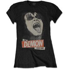 T-Shirt Donna Tg. L Kiss. The Demon Rock