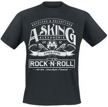 Asking Alexandria Men'S Tee: Rock N' Roll Retail Pack Medium