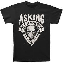 Asking Alexandria Men'S Tee: Skull Shield Retail Pack Medium
