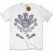 T-Shirt Unisex Tg. M. Who: Pinball Wizard Flippers