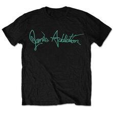 Medium. Janes Addiction Mens Tee: Script