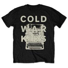 Medium. Cold War Kids Mens Tee: Typewriter