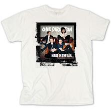 T-Shirt Unisex Tg. XL. One Direction Made In The A.M. White