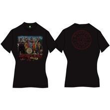 T-Shirt Donna Tg. 2XL. Beatles: Sgt Pepper Black