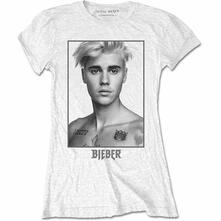 T-Shirt Donna Justin Bieber. Sorry Ladies (Back Print). Taglia L