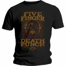 T-Shirt Unisex Five Finger Death Punch. Wanted. Taglia S