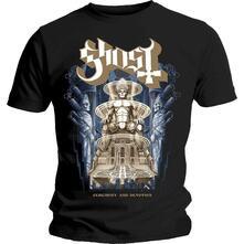 T-Shirt Unisex Ghost. Ceremony & Devotion. Taglia L