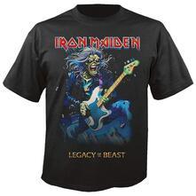 T-Shirt Unisex Tg. L. Iron Maiden: Eddie On Bass