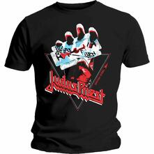 T-Shirt Unisex Judas Priest. British Steel Hand Triangle. Taglia M