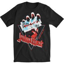 T-Shirt Unisex Judas Priest. British Steel Hand Triangle. Taglia XL