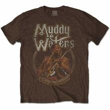 T-Shirt Unisex Tg. L. Muddy Waters: Father Of Chicago Blues