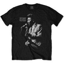 T-Shirt Unisex Muddy Waters. Muddy Live. Taglia L