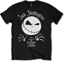 T-Shirt Unisex Nightmare Before Christmas. Jack Head. Taglia S