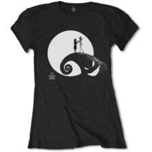 T-Shirt Donna Nightmare Before Christmas. Moon. Taglia L