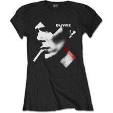 T-Shirt Donna David Bowie. X Smoke Red Lady. Taglia L