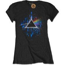 T-Shirt Donna Tg. M. Pink Floyd: The Dark Side Of The Moon Blue Splatter