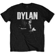 T-Shirt Unisex Bob Dylan. At Piano. Taglia XL