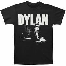 T-Shirt Unisex Bob Dylan. At Piano. Taglia 2XL