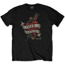 T-Shirt Unisex Nas. Love Tattoo. Taglia S