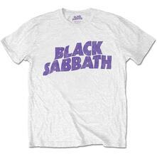 T-Shirt Unisex Tg. M. Black Sabbath: Wavy Logo Vintage