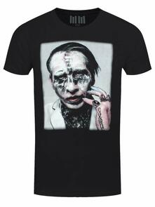 T-Shirt Unisex Marilyn Manson. Painted Face Euro Tour 2018 (Ex Tour/Back Print). Taglia 2XL