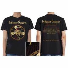 T-Shirt Unisex Hollywood Vampires. Drink, Fight, Puke (Ex Tour/Back Print). Taglia S