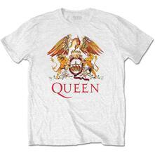 T-Shirt Unisex Tg. L. Queen: Classic Crest White