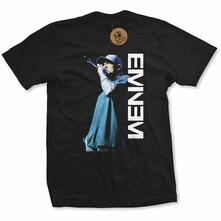 T-Shirt Taglia Small. Eminem Ladies Tee: Mic. Pose
