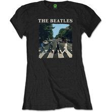 T-Shirt Donna Tg. S. Beatles: Abbey Road & Logo
