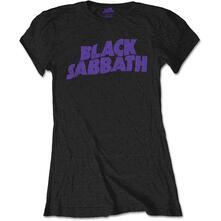 T-Shirt Donna Tg. M. Black Sabbath - Wavy Logo Vintage