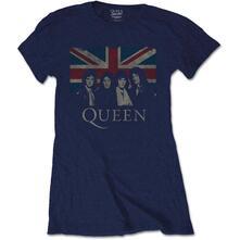 T-Shirt Donna Tg. L. Queen - Vintage Union Jack