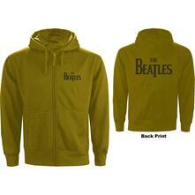Felpa Con Cappuccio Unisex Tg. L Beatles: Drop T Logo Zipped Green