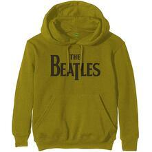 Felpa Con Cappuccio Unisex Tg. 2XL Beatles: Drop T Logo Green