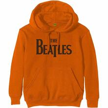 Felpa Con Cappuccio Unisex Tg. S Beatles: Drop T Logo Orange