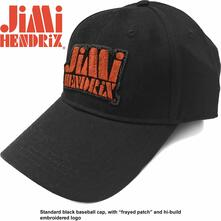 Cappellino Jimi Hendrix Orange Stencil Logo