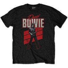 T-Shirt Unisex Tg. L. David Bowie - Red Sax