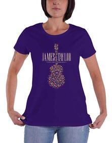 T-Shirt Donna Tg. L. James Taylor - 2018 Tour Flower Guitar