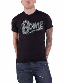 T-Shirt Unisex Tg. 2XL. David Bowie: Flash Logo