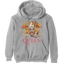 Felpa Con Cappuccio Unisex Tg. 2XL. Queen: Classic Crest