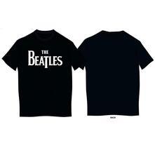 T-Shirt Bambino 9-10 Anni Beatles: Drop T Logo Black