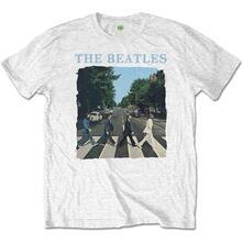 T-Shirt Bambino 5-6 Anni Beatles: Abbey Road & Logo White