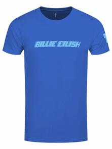 T-Shirt Unisex Tg. 2XL. Billie Eilish: Blue Racer Logo