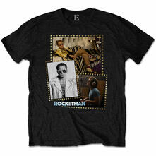 T-Shirt Unisex Tg. M. Elton John: Rocketman Montage