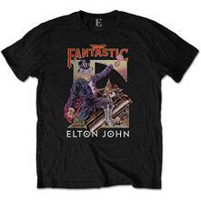T-Shirt Unisex Tg. L. Elton John: Captain Fantastic